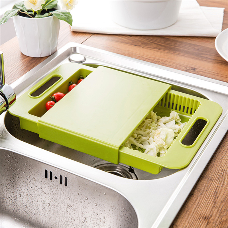Multi Function Kitchen Chopping Block Sinks Drain Basket Cutting Board Meat  Vegetable Fruit Antibacterial Non Slip Cutting Board In Chopping Blocks  From ...