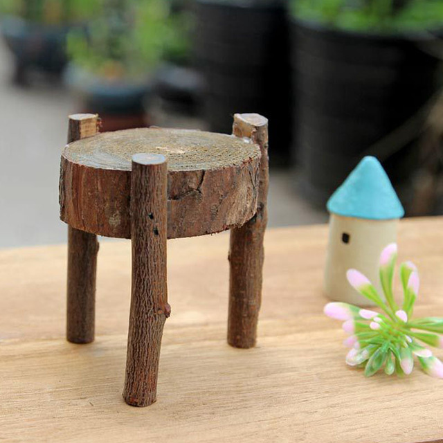 1 Pieces Wood Chair Couch Miniature Toys Kids Handmade Model Birthday Gift Christmas Dollhouse Furniture Photography Decoration