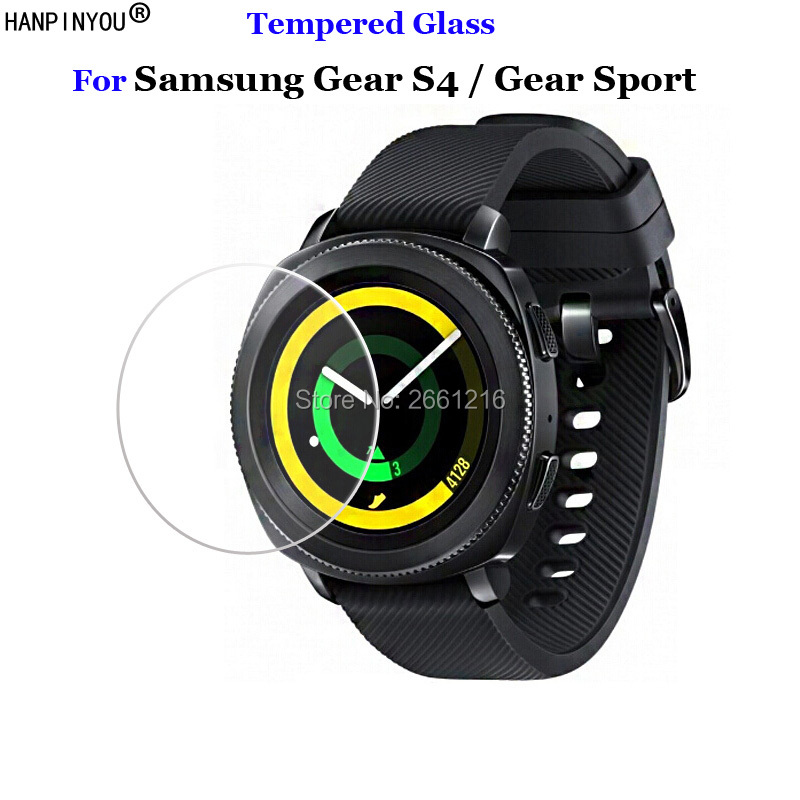 Billede af For Samsung Gear Sport / S4 Tempered Glass 9H 2.5D Premium Screen Protector Film For Samsung Gear S4 / Gear Sport SmartWatch