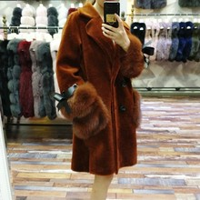 2017 new Direct supply from factory Winter Fashion Long style High grade Sheep fur women coats