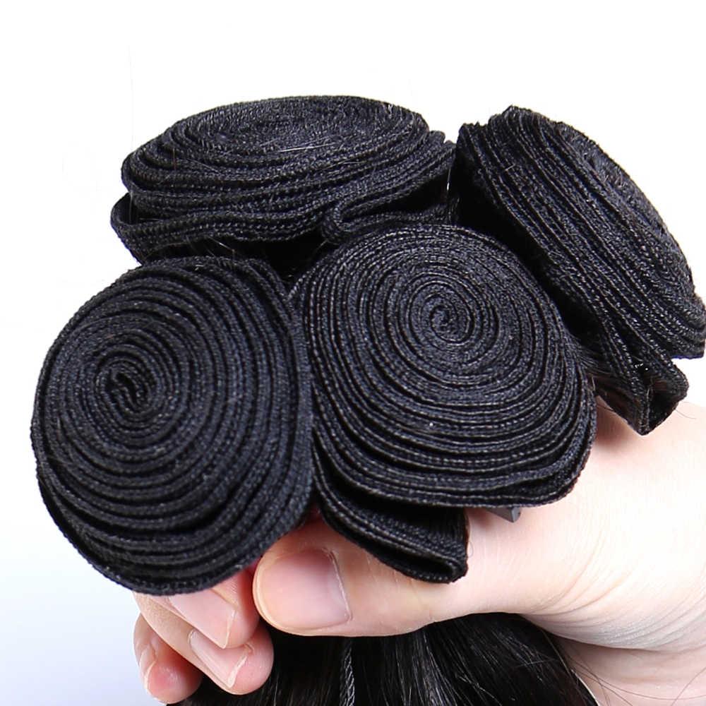 """Ms gato cabelo brasileiro em linha reta 1/3/4 pacotes 100% feixes de tecer cabelo humano cor natural 8 """"-26"""" extensões de cabelo remy"""