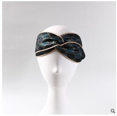 Primavera e no Outono Feminino Senhoras Hairbands Headbands Bordado Fino Ins