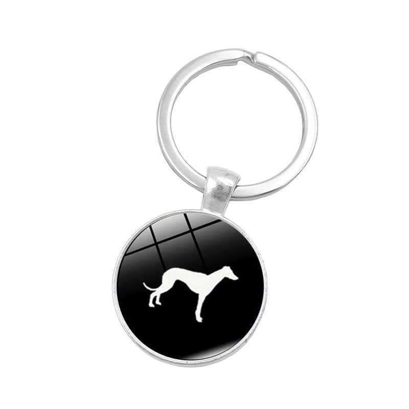 2018 Hot Dễ Thương Dachshund móc chìa khóa cổ điển tối giản hound silhouette art keychain con chó đáng yêu hồ sơ hình ảnh jewelry quà tặng tốt nhất