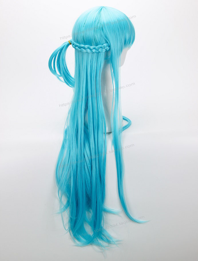 Anime Cosplay Sword Art Online Yuuki Asuna Blue Hairwear Cosplay Halloween Role Play Blue