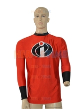 Mr Incredible Long Sleeve T shirt Hot Sale Red Spandex Incredible Superhero Costume free shipping