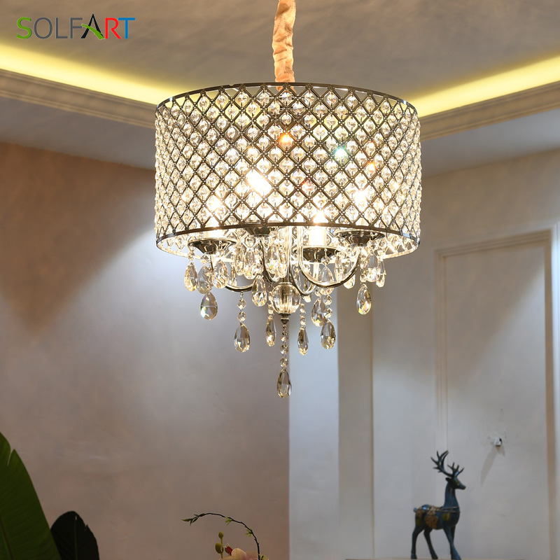 Us 159 33 20 Off Crystal Modern Lamp Stainless Steel Chandelier Lighting Chandeliers Dining Room Light Fixtures In Pendant Lights From