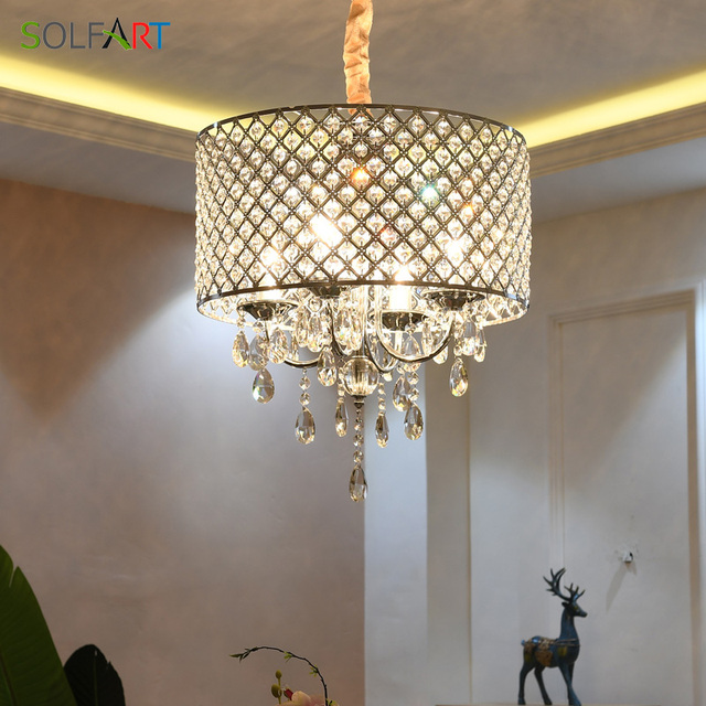 Us 199 16 Crystal Modern Lamp Stainless Steel Chandelier Lighting Chandeliers Dining Room Light Fixtures In Pendant Lights From Lights Lighting On