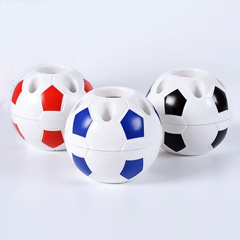 Football Ball Shape Pen Pencil Holder Soccer Ball Makeup Brush Holders Student Supplies Football Sports Gift Desktop Decoration
