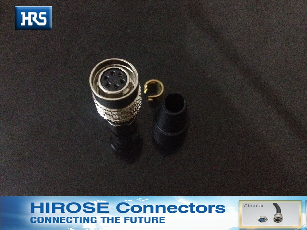 Hirose connector HR10A -7P-6S,metal 6 pin connector connector hr10a 7p 5s 73
