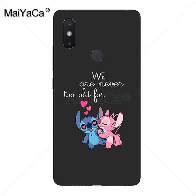 bf832bc407 maiyaca cartoon lilo stitch black soft tpu rubber cell phone case ...