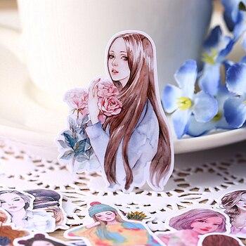 28pcs creative cute self-made  sen female fresh beauty girl scrapbooking stickers /decorative sticker /DIY craft photo albums - discount item  26% OFF Stationery Sticker