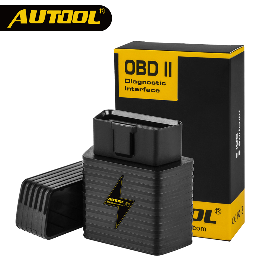 <font><b>OBD2</b></font> II <font><b>ELM327</b></font> <font><b>V1.5</b></font> Bluetooth Car ELM 327 OBD Scanner Auto Code Reader Scan Diagnostic Tool Automotive Multifunction AUTOOL A5 image