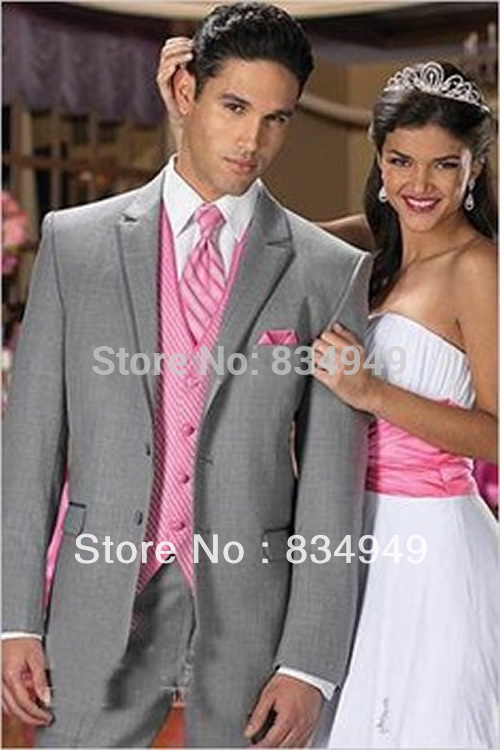 Gray Suit with Pink Vest Promotion-Shop for Promotional Gray Suit