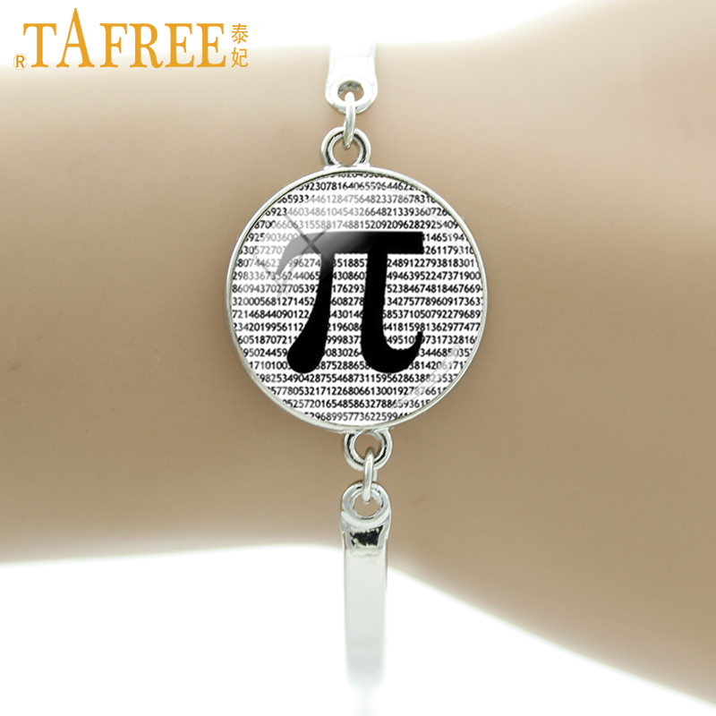 TAFREE Brand Vintage PI Bracelet Math Teachers Jewelry Science Bangle Mathematics Black and White Art Charms men women Gift D167