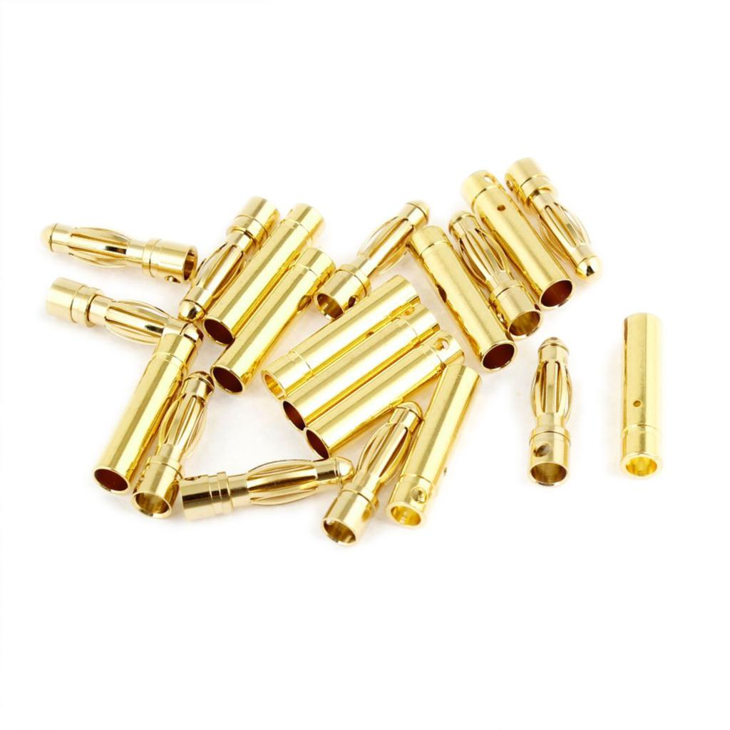 IMC Hot 4mm Inside Dia Male Female Banana Plug Bullet Replacement 10 Pairs imc hot new 20 pairs gold tone metal rc banana bullet plug connector male female 4mm
