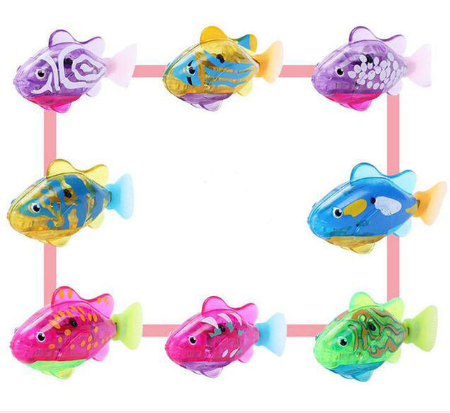 Plastic Material Funny Swim Electronic Robot Fish Activated Battery Powered Toy Fishing Tank Decorating