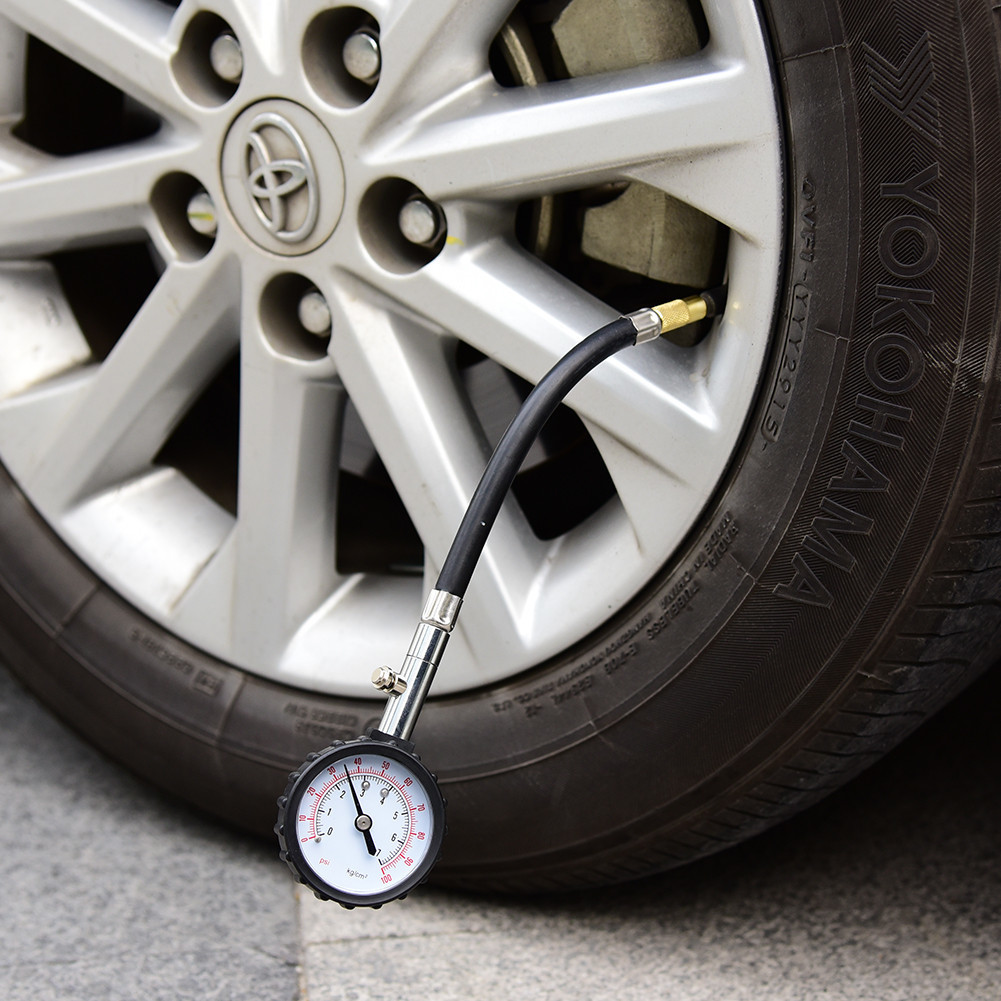 Hose tire pressure gauge automotive supplies tire pressure gauge for air auto motorcycle truck diagnostic tool