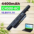 4400mAh Laptop battery A6-87-C480S-4P4 C4500BAT-6  for CLEVO C4100 C4500 C5105 C5505 W150 W271 W251 W270 B4100M