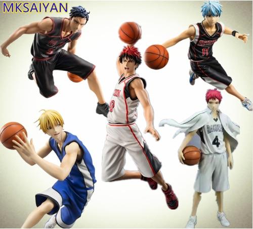 Игрушки Kuroko без корзины аниме Taiga Daiki Ryota Tetsuya ПВХ экшн-фигурка баскетбольная игрушка для мальчиков Коллекционная модель кукла подарок для де...