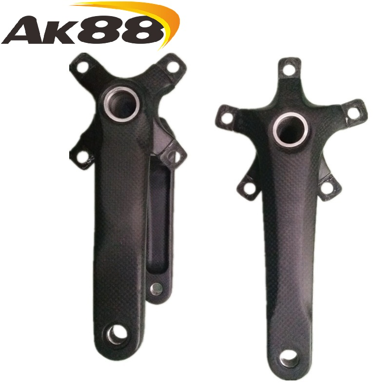 New AK88 bicycle parts carbon fiber four claw five claw crank center set купить