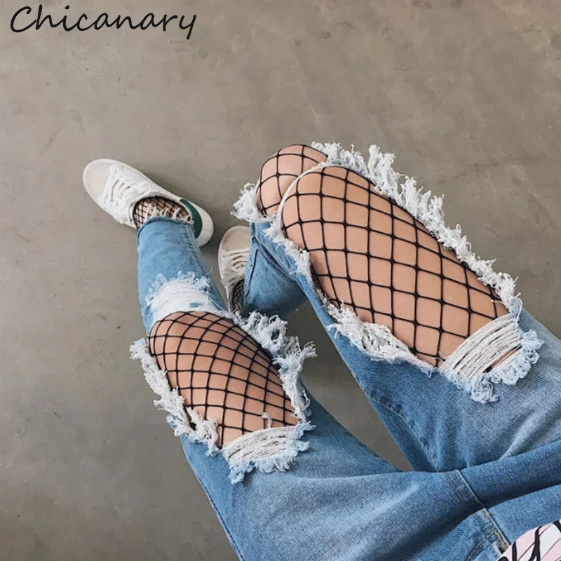 Chicanary Knee Ripped Crop Mom Jeans Raw Cut Women Denim Distressed Pants
