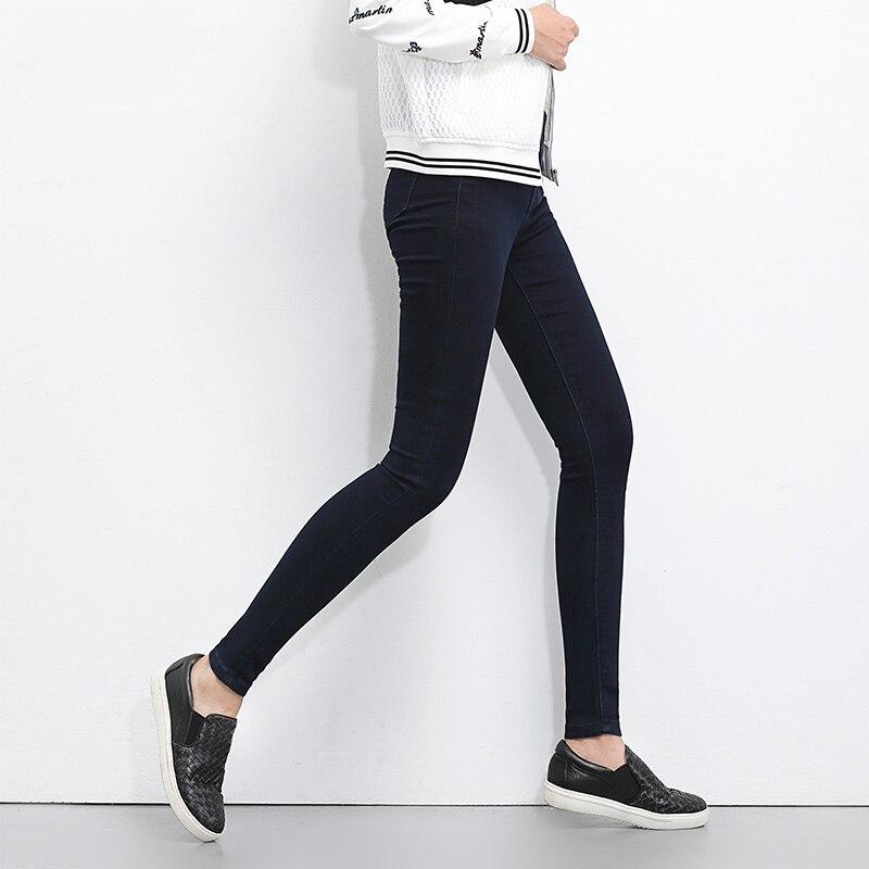 6f1c6020103 LEIJIJEANS 2019 плюс размер Кнопка fly женские джинсы с высокой талией  черные брюки джинсы для женщин высокие эластичные обтягивающие джинсы  эластичные ...