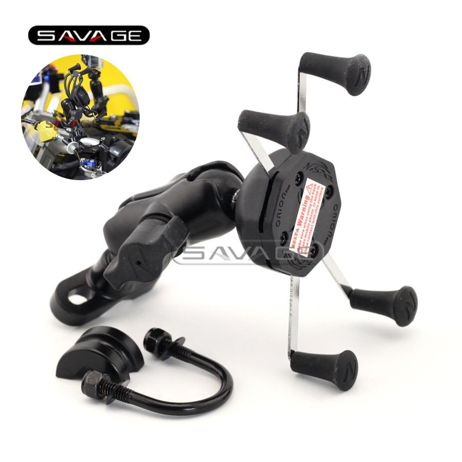 Для Suzuki бандит gsf и 1200/1250/650/400 GSX1400 мотоцикл GPS навигация Рамка мобильный телефон Кронштейн