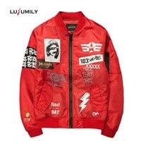 Lusumily 2019 Spring Autumn Jacket Women Thin Jacket Plus Size 5XL Coat Streetwear Clothes Windbreaker Military Bomber Jacket