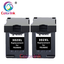 ColoInk 2Pack 302XL ink cartridge replacement for HP 302XL Deskjet 2130 2135 1110 3630 3632 Officejet