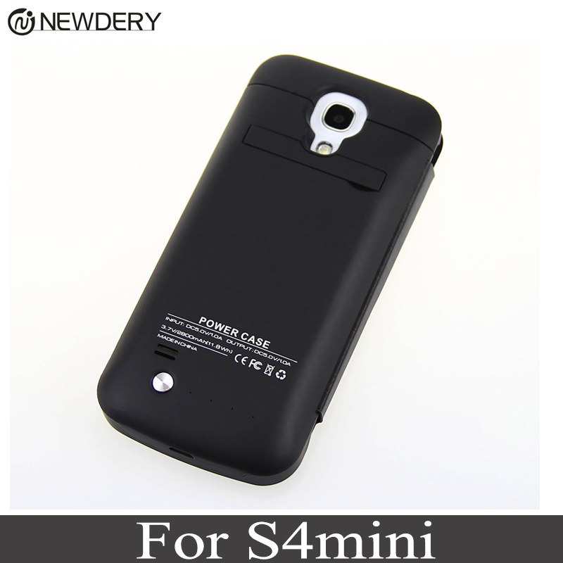 NEWDERY 2800mAh For Samsung S4MINI Power bank battery Case External Charger Battery Case Backup Charging for S4 mini