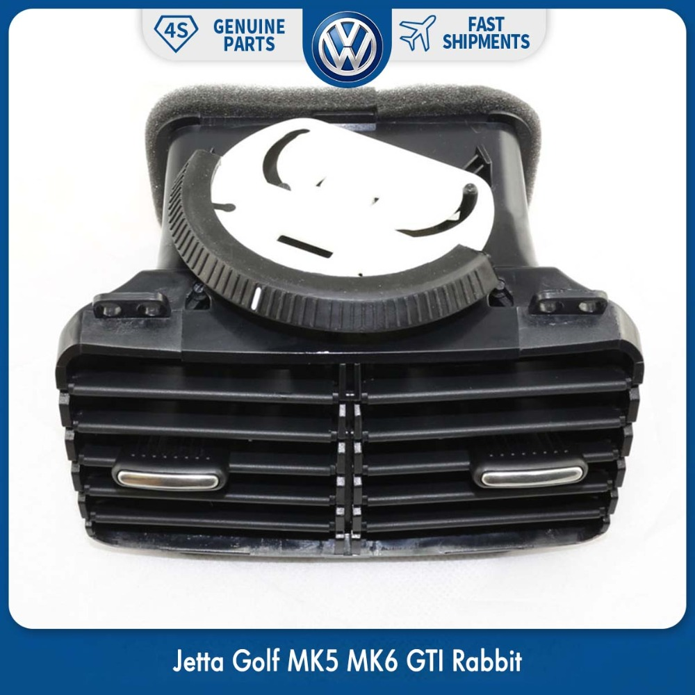 OEM Car Center Console AC Outlet Air Condition Vent for Volkswagen VW Jetta Golf MK5 MK6 GTI Rabbit 1KD 819 203 1KD819203 new oem vw jetta golf mk5 gti rabbit front fog lights lamps 1t0941699 1t0941700 2005 2009