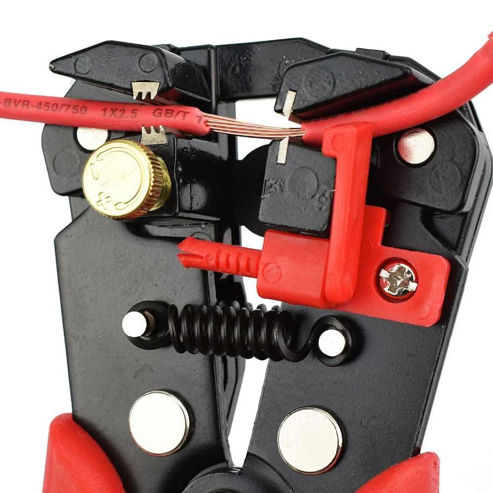NEWACALOX кабель для зачистки проводов резак щипцы автоматический многофункциональный обжимной зачистки плоскогубцы инструменты электрический