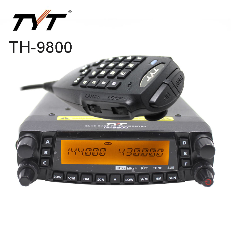 TYT TH-9800 Mobile Car Radio 50W Dual Band Ham Walkie Talkie VHF UHF Truck Cable