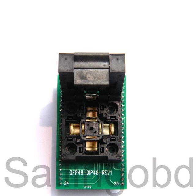 TQFP48 QFP48 to DIP48 IC51-0484-806 Teste MCU IC adaptador Programador tomada de Soquete