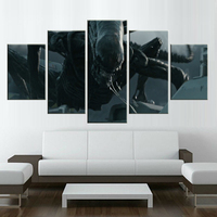 5 Pieces Alien Covenant Poster Painting Modern Home Decor Canvas Art Modular Pictures Wall Poster Painting