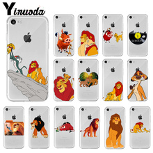 Yinuoda Lion king Newly Arrived Transparent Cell Phone Case for Apple iPhone 8 7 6 6S Plus X XS MAX 5 5S SE XR Cover ацикловир форте 400 мг 20 табл