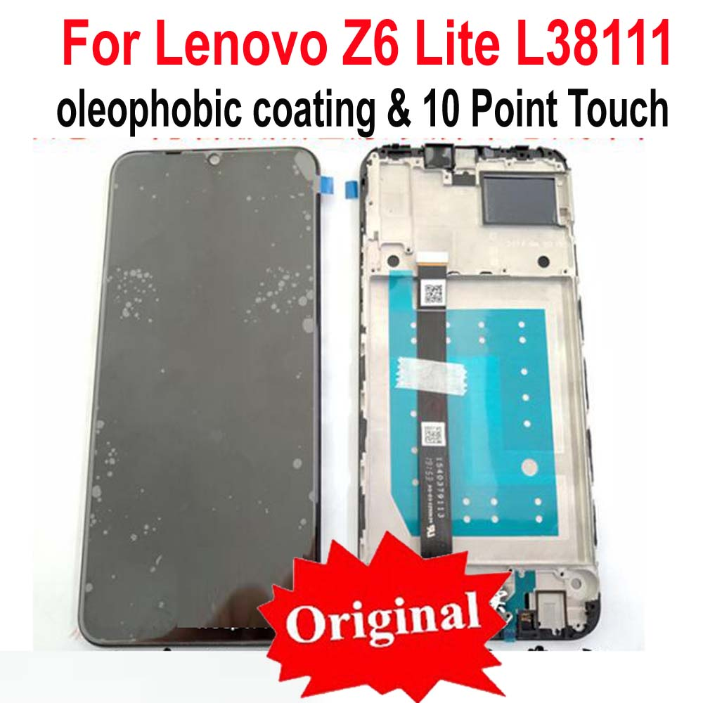 100% Original Best Black Full LCD Display Touch Screen Digitizer Assembly Sensor + Frame For Lenovo Z6 Lite L38111 Glass Panel-in Mobile Phone LCD Screens from Cellphones & Telecommunications