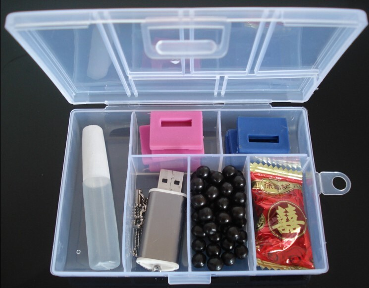 LOULEUR Plastic 6 Slots Jewelry Boxes Plastic Tool Box Adjustable Craft Organizer Storage Beads Bracelet Jewelry Boxes Packaging