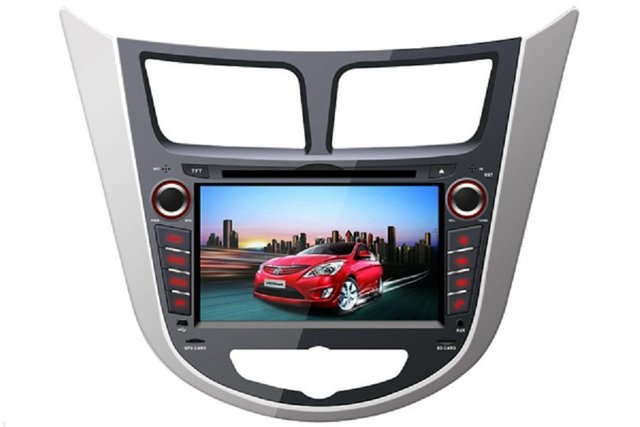 For Russia Hyundai Solaris  / Verna car mp3 radio 2 din  GPS  Navigation  support  Bluetooth  TV iPod  steering wheel control