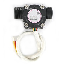 G1/2 Water Flow Sensor Hall Flowmeter Temperature Sensor for Arduino Turbine Flowmeter Measure Temperature / Water Flow XH-4P