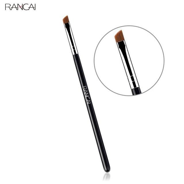 RANCAI Professional 1pcs Angled Eyebrow brush Eye Brow Eyes Makeup Brushes Synthetic Hair Cosmetics Beauty Essentials Tools Kit 1