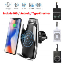 Wireless Car Charger , Fast Charging Air Vent Infrared Sensor Automatic Clamping Holder , Mount For iphone Xiaomi Samsung Huawei