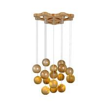BDBQBL Modern Wooden LED Pendant Lights 1/3/7/10/16 Heads E27 Loft Hanging Lamp for Indoor Use Living Room Dinning Hall Study стоимость
