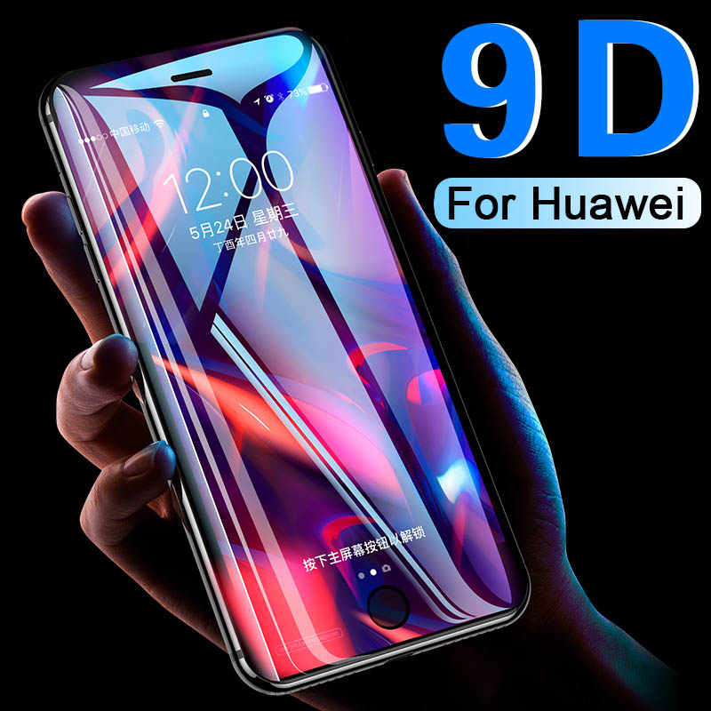 9D Glass for huawei nova 3 3i Protective Glass For huawei y9 2019 y5 lite y6 y7 prime 2018 JKM-LX1 P Smart Z screen cover film