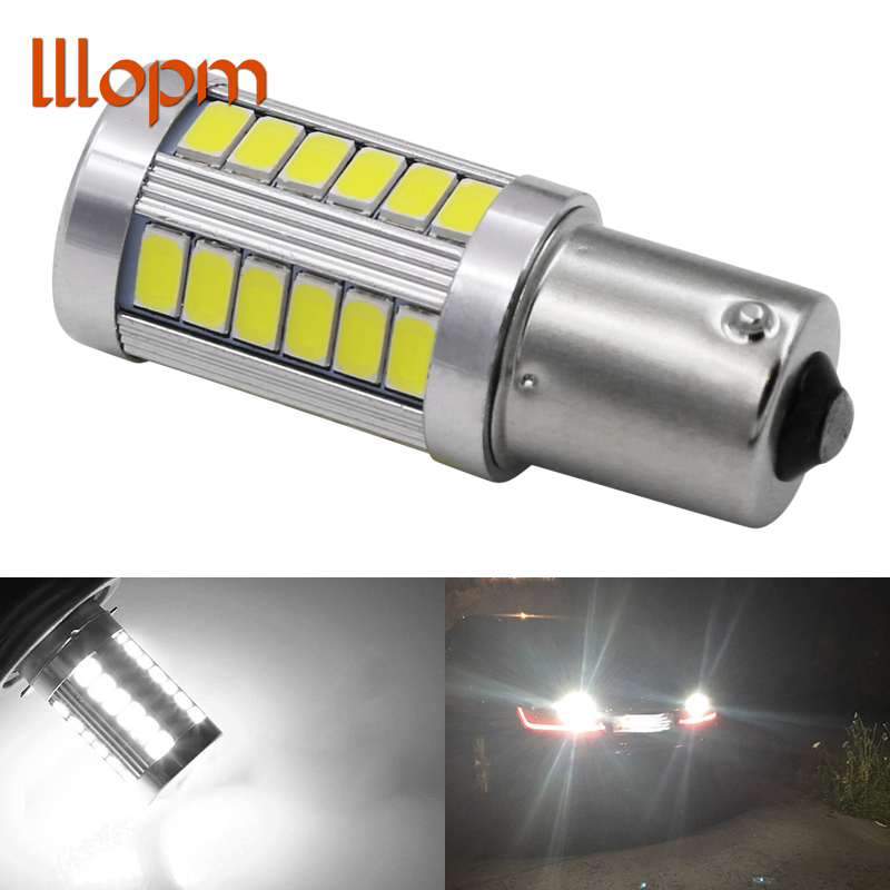High Quality 1156 P21W BA15S 33 SMD 5630 5730 LED Auto Brake Light Rear Fog Lamp Car DRL Driving light Reverse Bulb Turn Signals 1pcs high quality 1156 ba15s p21w 15 smd 2835 canbus led car auto indicator turn side light parking bulb lamp dc 12v