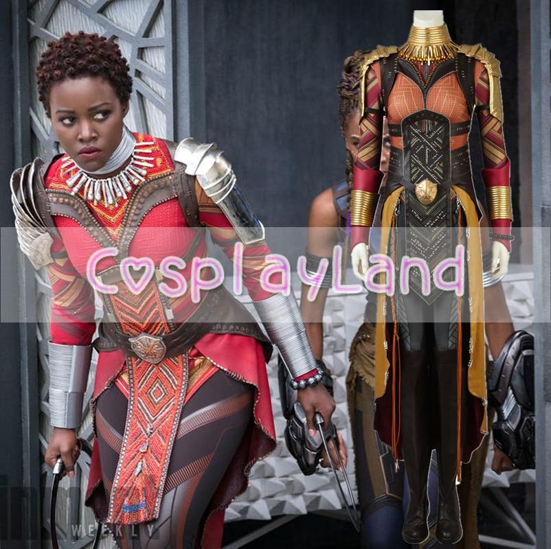 2018 Noir Panthère Okoye Cosplay Costume Carnaval Halloween Costumes Cosplay Avengers Infinity Guerre Okoye Costume Salopette