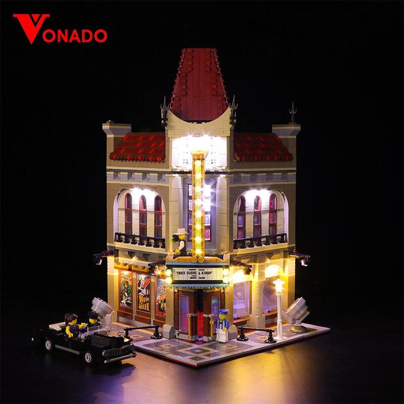 Lumière LED ensemble pour Lego 10232 blocs de construction créateur City Street Compatible 15006 Palace cinéma jouets (lumière avec boîte de batterie)