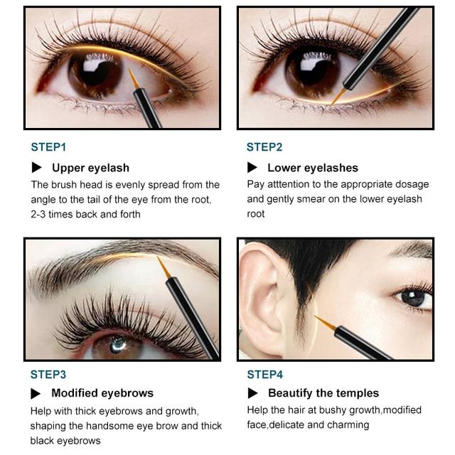 FEG Eyelash Enhancer 100% Original Eyelash Growth Treatment Serum Natural Herbal Medicine Eye Lashes Mascara Lengthening Longer 4