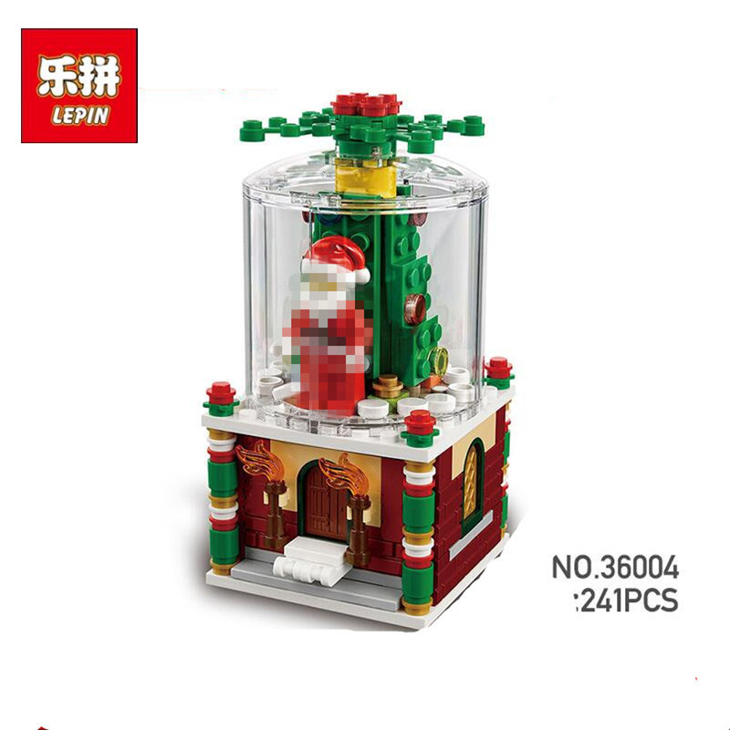 LEPIN 36004 Christmas Santa Snow 36004 Globe Building Blocks Toy DIY Educational Toys compatible 40223