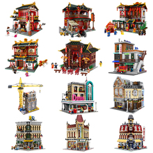 Xingbao 01020 Street Creator Chinese City 01003 Series The MOC Building Blocks The Maritime Museum 15002 15010 15039